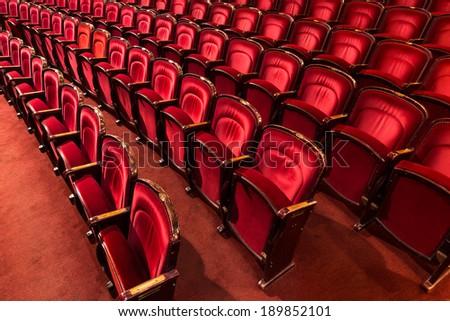 theater auditorium, interior - stock photo