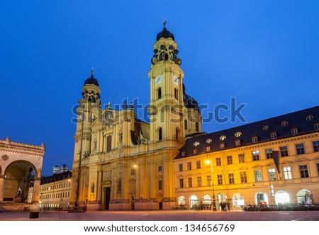 Theatine Church of St. Cajetan in Munich - Germany - stock photo