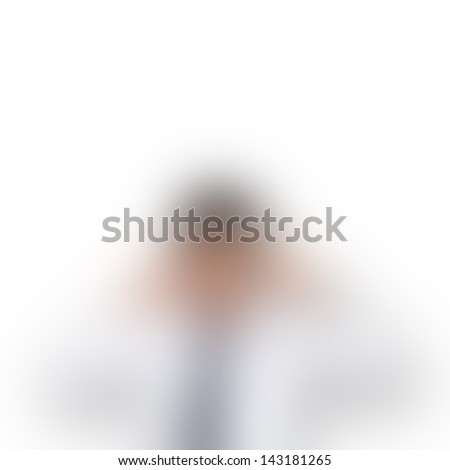 Thinking man blur - stock photo