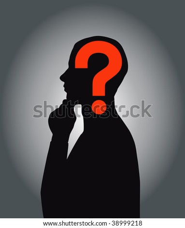 Thinking man (in the gallery also available vector version of this image)