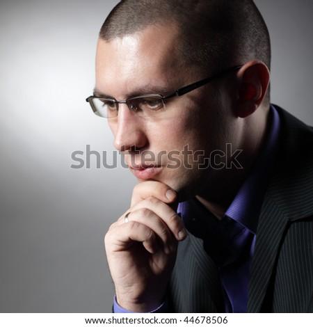 thinking men - stock photo