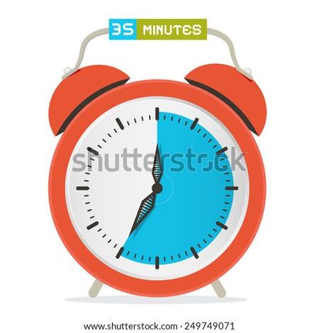35 - Thirty Five Minutes Stop Watch - Alarm Clock Illustration  - stock photo