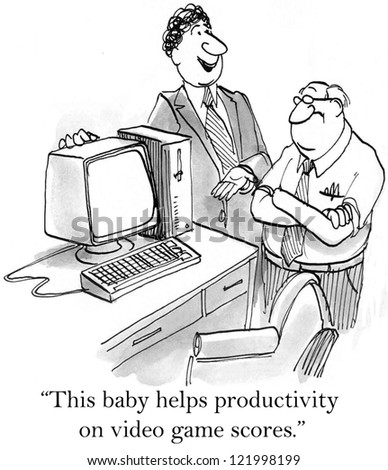 """This baby helps productivity on video game scores."""