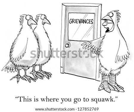 """""""This is where you go to squawk."""" - stock photo"""