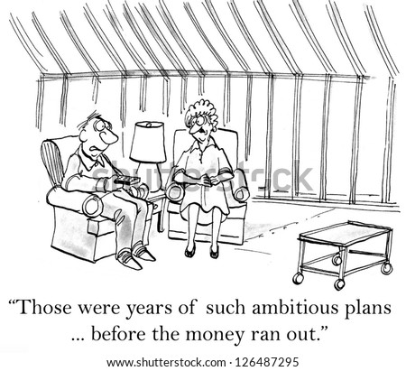 """""""Those were years of such ambitious plans ... before the money ran out."""" - stock photo"""