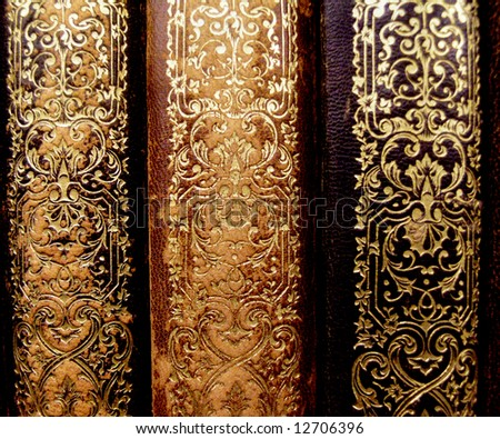 three old book ends - stock photo
