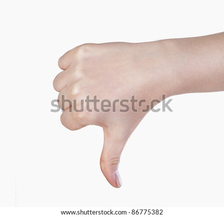 Thumb down - stock photo