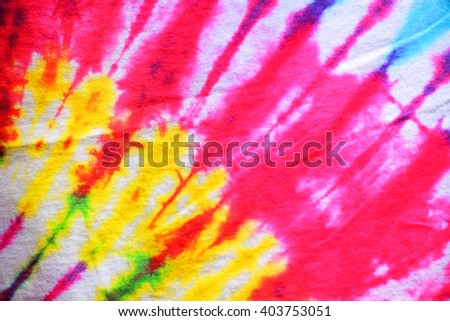Tie-dye patterns of batik.