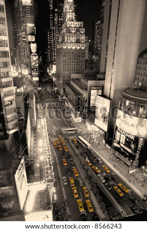 Times square - new york - manhattan - stock photo