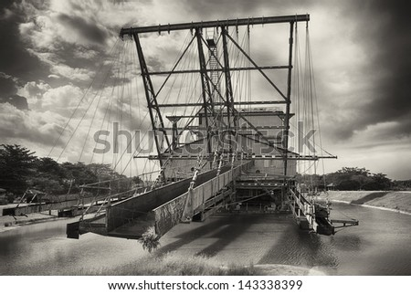 Tin Dredge built in 1938 by W.F. Payne & Sons - stock photo