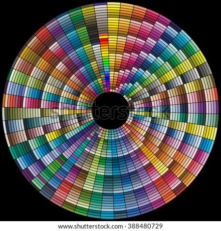 1750 tints of color. Color tones dynamic transformations. Colour palette for an artist or designer. - stock photo