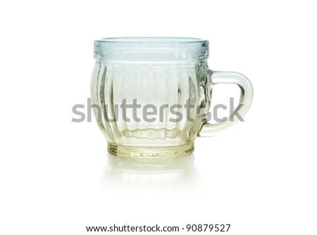 tiny colored glass isolated on white background - stock photo