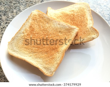 toast on a white plate