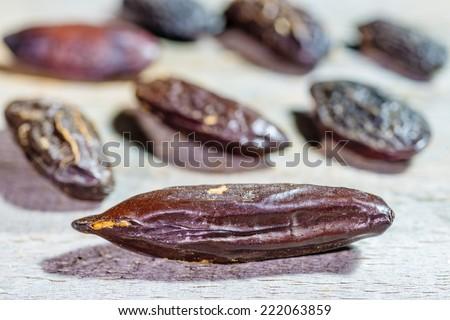 tonka beans - stock photo