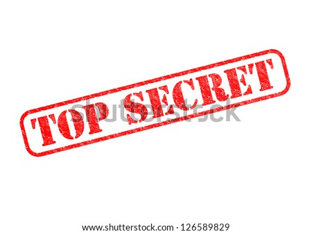 'TOP SECRET' Red Stamp over a white background. - stock photo