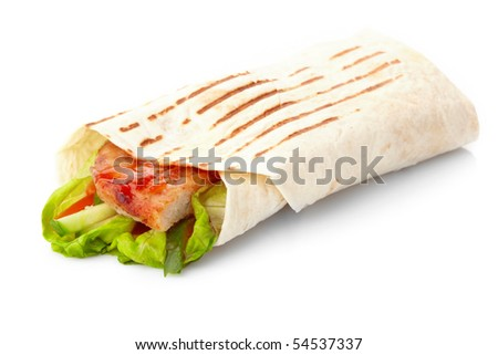 tortilla with meat and vegetables