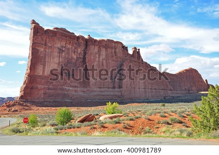 Tower of Barbel , Arches National Park, Moab, Utah, USA - stock photo
