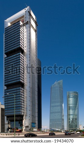4 towers Madrid - stock photo