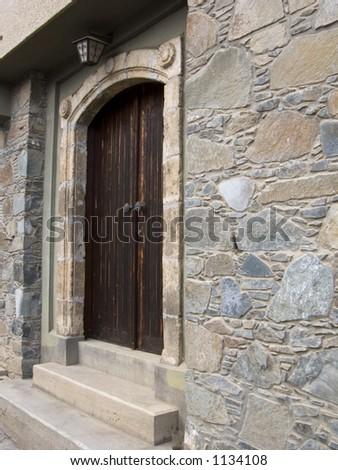Traditional House  Door entrance in Cyprus - stock photo