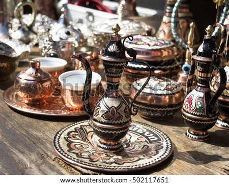 traditional tea, coffee pot at a marketplace in Sarajevo, Bosnia and Herzegovina