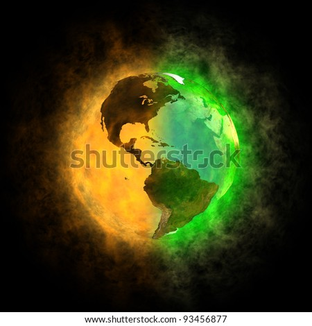 2012 - Transformation of Earth - America - stock photo