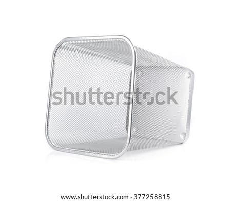 trash bin isolated on white
