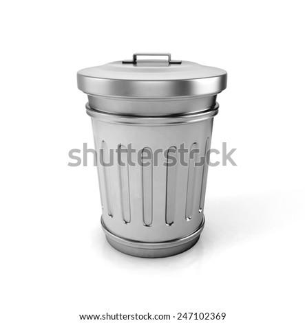 trash can. 3d illustration - stock photo
