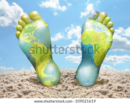 Travel around the world - stock photo
