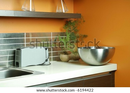 Trendy Kitchen - stock photo