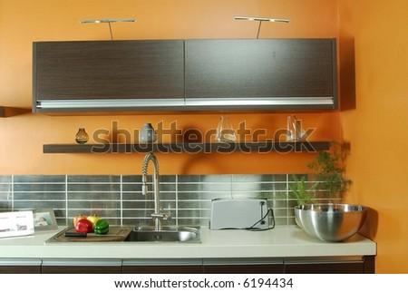Trendy Kitchen - stock photo
