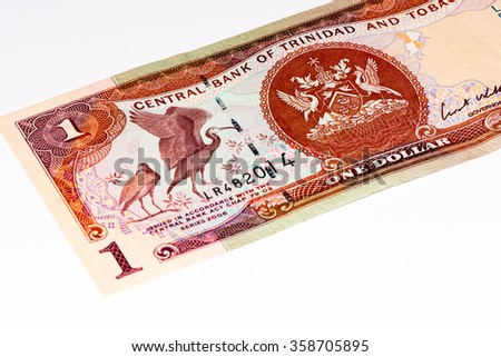1 Trinidad and Tobago dollar bank note. Trinidad and Tobago is the national currency of this country