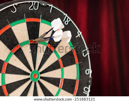 180! / triple 20 on a darts table - stock photo