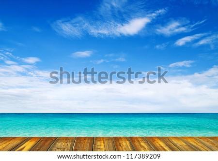 tropical sea - stock photo