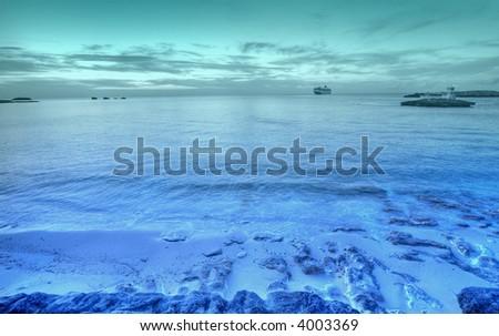 tropical seascape - stock photo