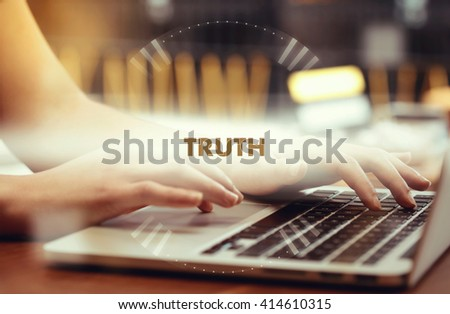 """ Truth "" Internet Data Technology Concept - stock photo"