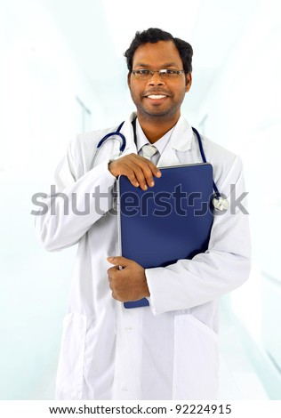 ?ttractive young doctor - stock photo