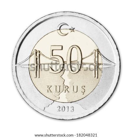 50 Turkish Kurus / Elli Kurus - stock photo