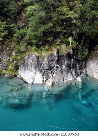 Turquoise Lake - stock photo