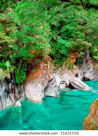 Turquoise water - stock photo