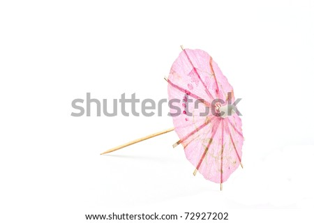 ,umbrella for drink isolated on white, - stock photo