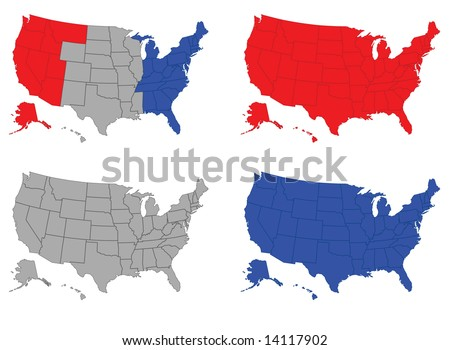 * United States of America - stock photo