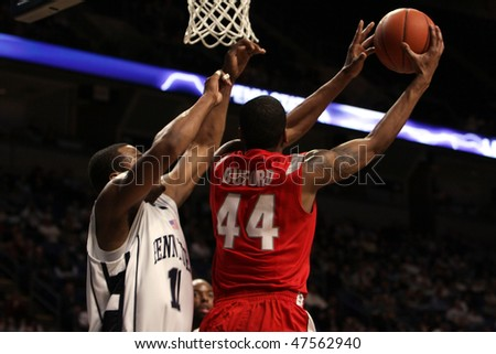 UNIVERSITY PARK, PA - FEBRUARY 24: Ohio State guard William Bufford #44 shoots the ball in a  game against Penn State at the Byrce Jordan Center February 24, 2010 in University Park, PA - stock photo