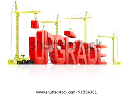 upgrade to next latest software version, upgrading website to new generation, download updated model of computer program, updating product improved quality; - stock photo