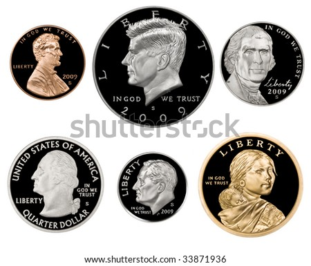 2009 US Coin Proof Set - stock photo