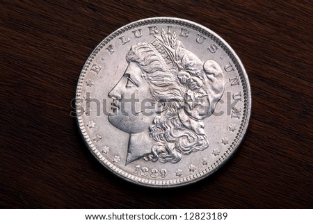 1889 USA Morgan Silver Dollar with a classic head of Liberty