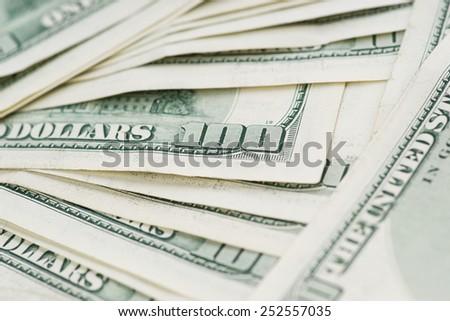 100 Usd banknotes - stock photo