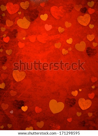 Valentine's Day background. Power of Love - stock photo