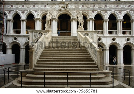 Venice       Staircase of Giants - stock photo