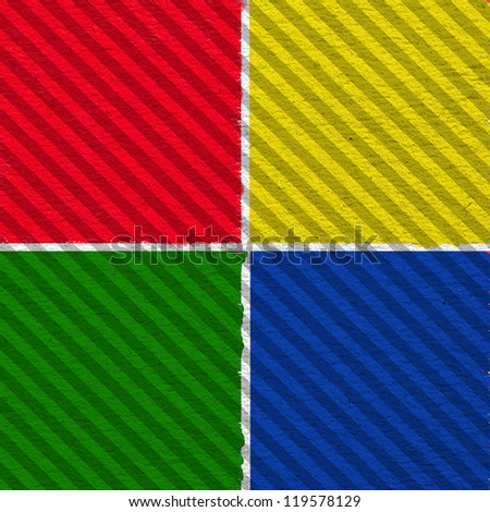 4 versions color striped pattern background