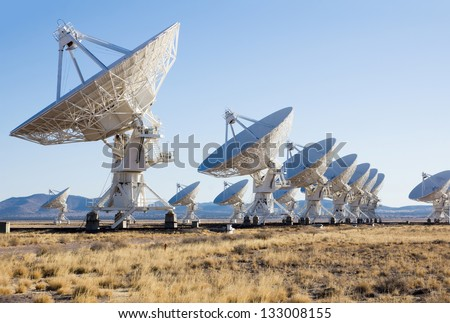 Very Large Array (VLA) is a radio astronomy observatory - stock photo